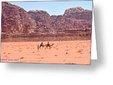 The Camel Riders Greeting Card
