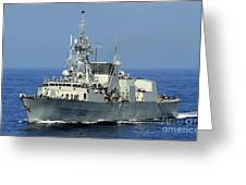 The Canadian Patrol Frigate Hmcs Greeting Card