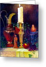 The Candlestick And Pitcher Greeting Card