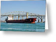 The Cape At Blue Water Bridges Greeting Card