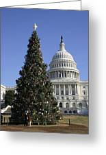 The Capitol Christmas Tree Is Decorated Greeting Card