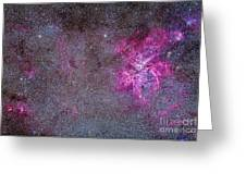 The Carina Nebula And Surrounding Greeting Card