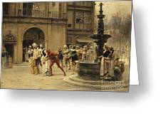 The Carnival Procession Greeting Card
