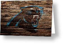 The Carolina Panthers 4a Greeting Card