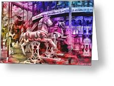 The Carousel Of Alice   Greeting Card
