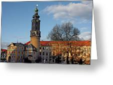 The Castle - Weimar - Thuringia - Germany Greeting Card