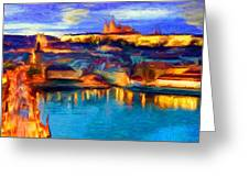 The Castle And The River Greeting Card