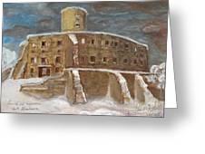The Castle Greeting Card by Anna Folkartanna Maciejewska-Dyba