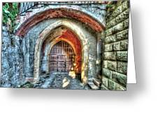The Castle Door - La Porta Del Castello Greeting Card