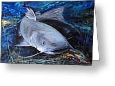 The Catfish And The Crawdad Greeting Card