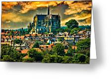 The Cathedral At Arundel Greeting Card