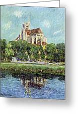 The Cathedral At Auxerre Greeting Card