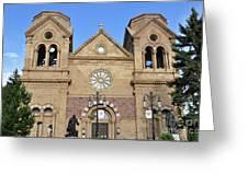The Cathedral Basilica Of St. Francis Of Assisi, Santa Fe, New M Greeting Card