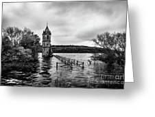 The Cathedral Of Fish Bw Greeting Card