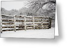 The Cattle Pens Greeting Card