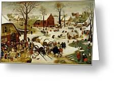 The Census At Bethlehem Greeting Card