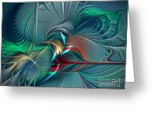 The Center Of Longing-abstract Art Greeting Card