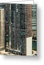 The Chandler Condominiums Building Chicago Aerial Greeting Card