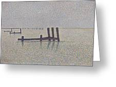 The Channel At Nieuport Greeting Card