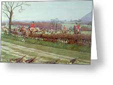 The Cheshire Away From Tattenhall Greeting Card by Cecil Charles Windsor Aldin