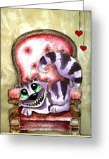 The Cheshire Cat - Lovely Sofa Greeting Card