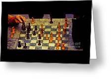 The Chess Game, New York City C. 1977 Greeting Card