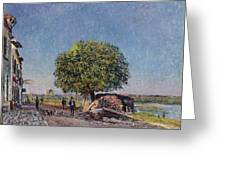 The Chestnut Tree At Saint-mammes Greeting Card