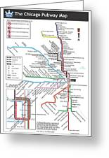 The Chicago Pubway Map Greeting Card