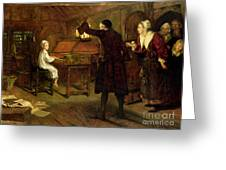 The Child Handel Discovered By His Parents Greeting Card