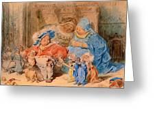 The Childhood Of Gargantua Greeting Card