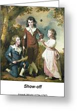 The Children Of Hugh And Sarah Wood Of Swanwick Derbyshire Greeting Card