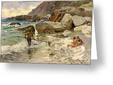 The Children Of The Sea - Capri Greeting Card
