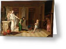 The Children's Quarrel Greeting Card
