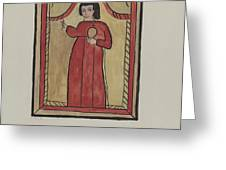 The Christ Child-retalba El Nino Perdido, (the Lost Child) A Retabla Greeting Card