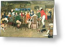 The Christmas Dinner At The Inn Greeting Card