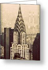 The Chrysler Building New York Greeting Card