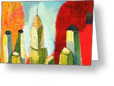 The Chrysler In Colors Greeting Card