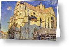 The Church At Moret Greeting Card
