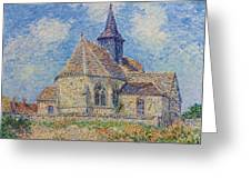 The Church At Porte-joie On The Eure Greeting Card