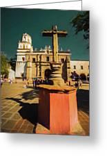 The Church Of San Juan Bautista Of Coyoacan 2  Greeting Card