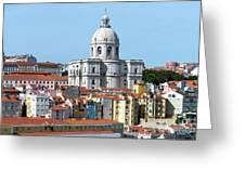 The Church Of Santa Engracia And Rooftops -- Lisbon Greeting Card
