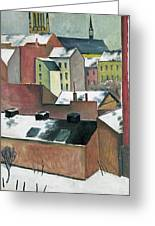 The Church Of St Mary In Bonn In Snow Greeting Card