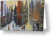 The City At Sunset Greeting Card