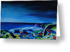 The City At The Sea Greeting Card
