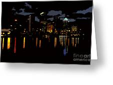 The City Dark Greeting Card