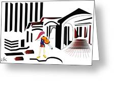 The City Musician  Greeting Card