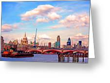 The City Of London By Day Greeting Card