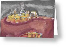 The City Of Nineveh With Stormfront Greeting Card