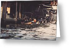The City On The Water. Thailand. Greeting Card