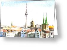 The Cityscape Of Berlin Greeting Card